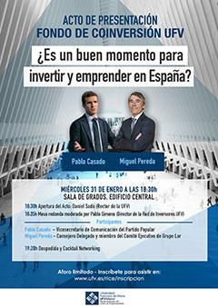 CARTEL PRESENTACION FONDO CONVERSION Red de Inversores   Centro de Emprendimiento