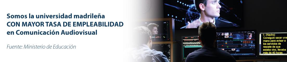 Tasa empleabilidad UFV Comunicación Audiovisual