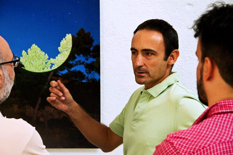 Conferencia: Vivir de una vocación, impartida por el pintor y profesor UFV, Javier Riera, en su estudio