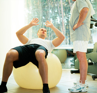 Fisioterapia fitball
