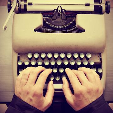 Narrativa, máquina de escribir