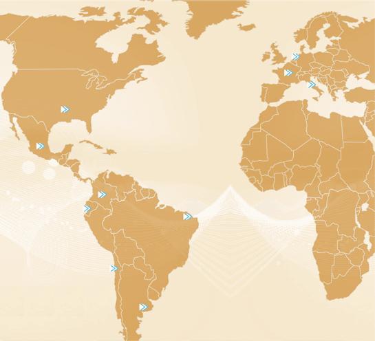Mapa de convenios internacionales