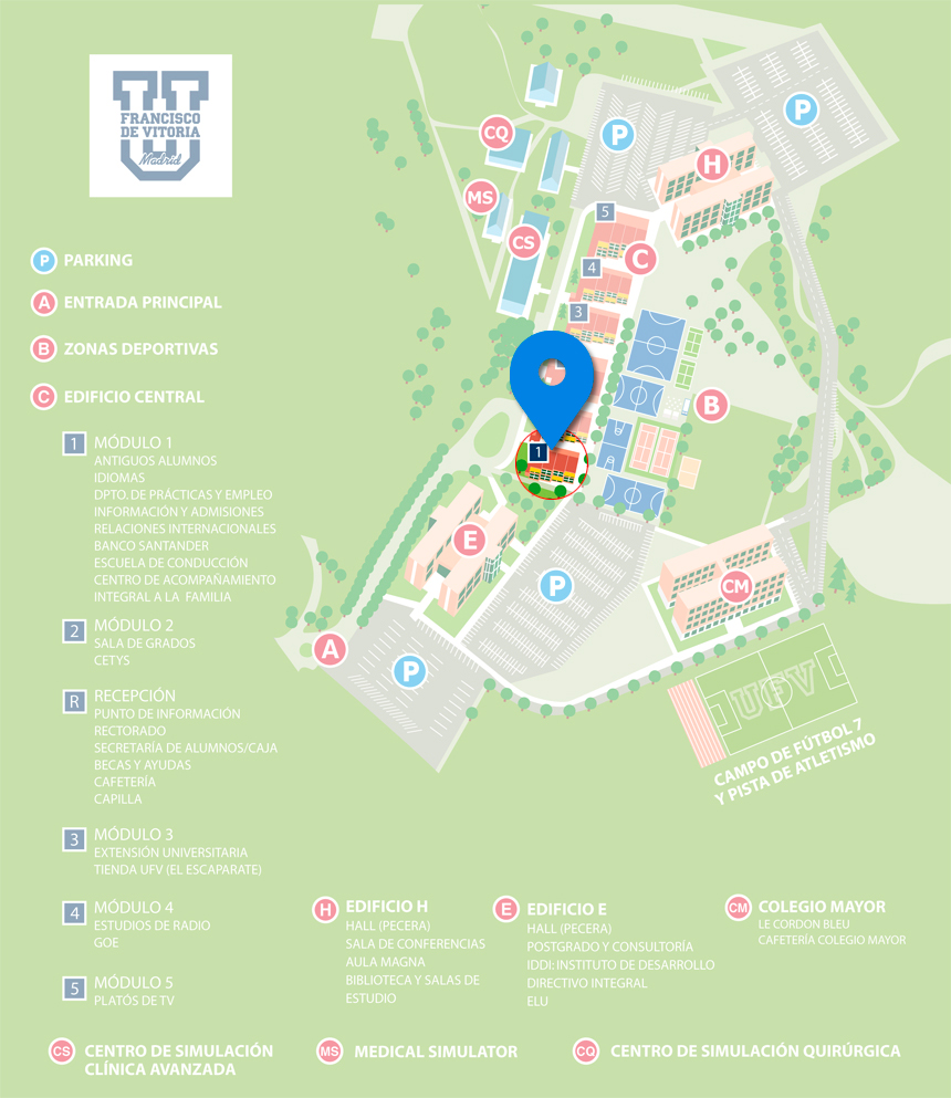Mapa Campus UFV Centro de Idiomas