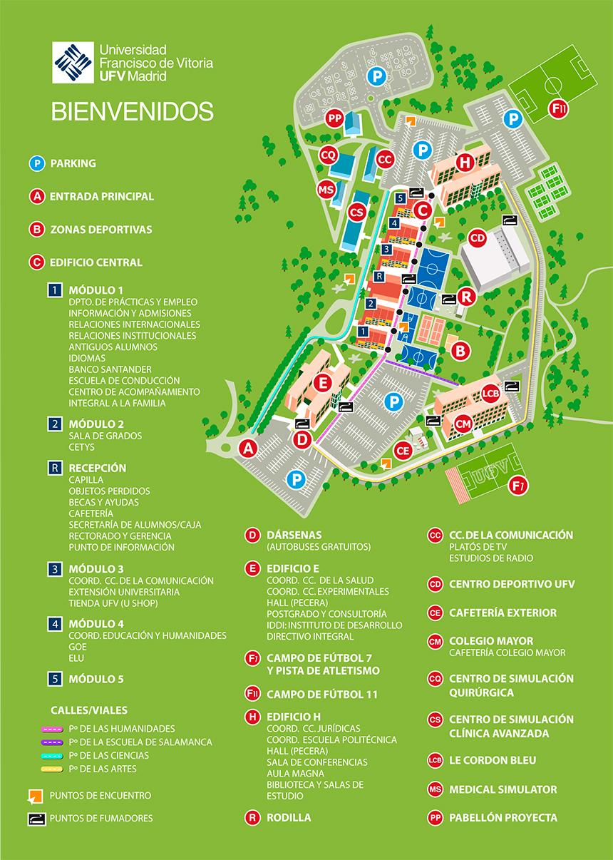 Mapa Campus Universidad Francisco de Vitoria