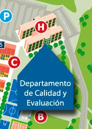 Ubicación del departamento de calidad y evaluación en la UFV